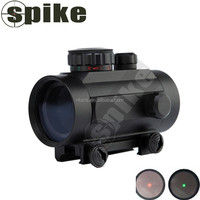SPIKE Rifle scope 1x30mm Red Dot Sight with 22mm Weaver Picatinny Mount Five Brightness Settings Red Dot & Laser Sight