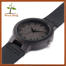 2017 Hot Products Leisure Wooden Oem Wrist Bracelet Watch Casual Watches For Men Colour All Black Watch
