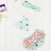 Wholesale baby clothes , girls boutique clothing, baby gold cothes in stock