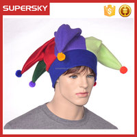 K-395 Funny Jester Clown Costume Hat Party Carnival Funny Crazy Clown Rainbow Jester Hat