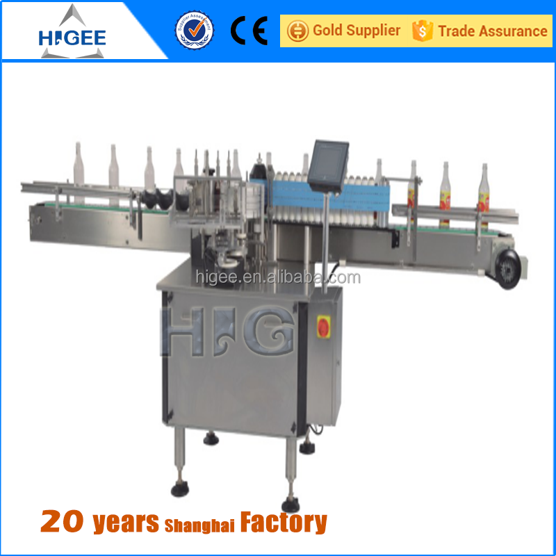 Hot melt paper glue automatic plastic and glass bottle labeling machine