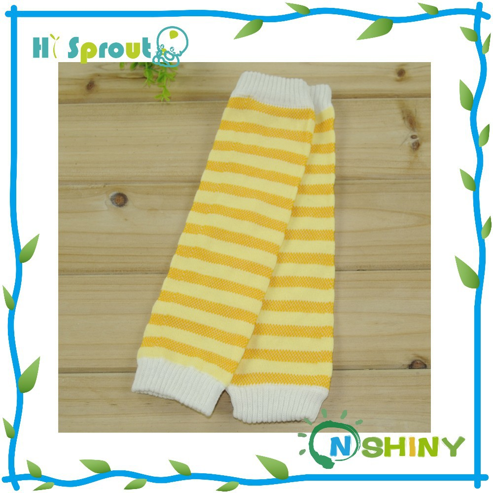 Super quality colorful strip knitting leg warmer for kids