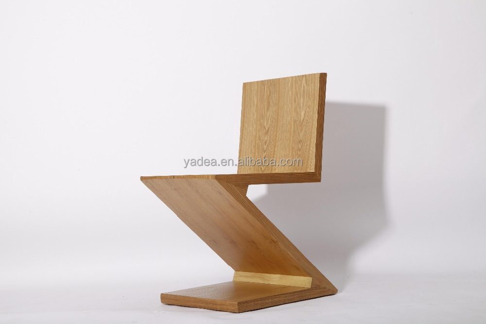 Creative Furniture Zig Zag Chair Wooden Z Shape Dining