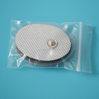 Physical therapy tens machine self adhesive snap electrode pad (2pks)