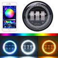 "Popular!4.5"" magic RGB motorcycle fog light fog lamp motorcycle 4.5inch led fog light for Harley"