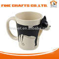2014 New Product 3D Dog Ceramic Cup Innovative Coffee Mug