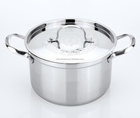 large stainless steel cookware kitchenware houseware stock pot 28cm