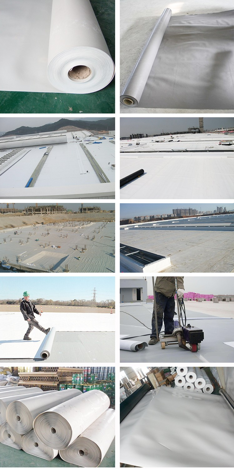 Underground Waterproofing Materials PVC Elastomeric Waterproofing Membrane