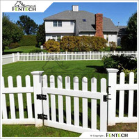Made in China Customized Fentech high Quality Beautiful White Picket House Fencing