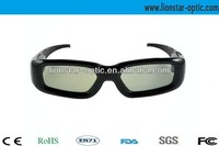recharge bluetooth video active shutter 3d glasses, black frame