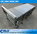 Flexible expandable power expandable roller conveyor