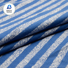 High quality cotton cation dyed stripe knit jersey fabric for clothing