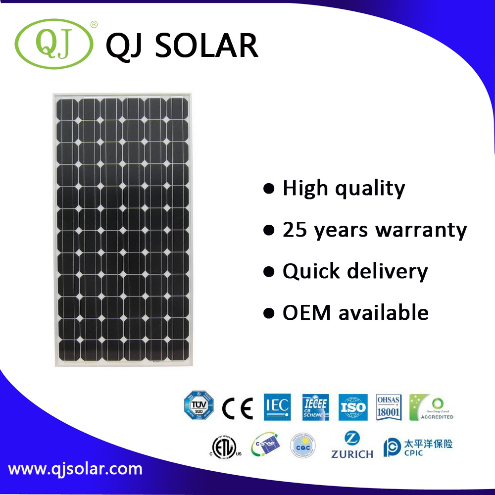 Monocrystalline 180W home solar panel solar panels for apartments