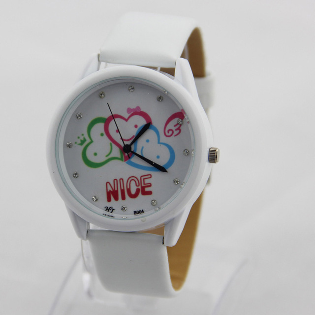 2017 good rubber personal optional colors cute silicone watch for kids children