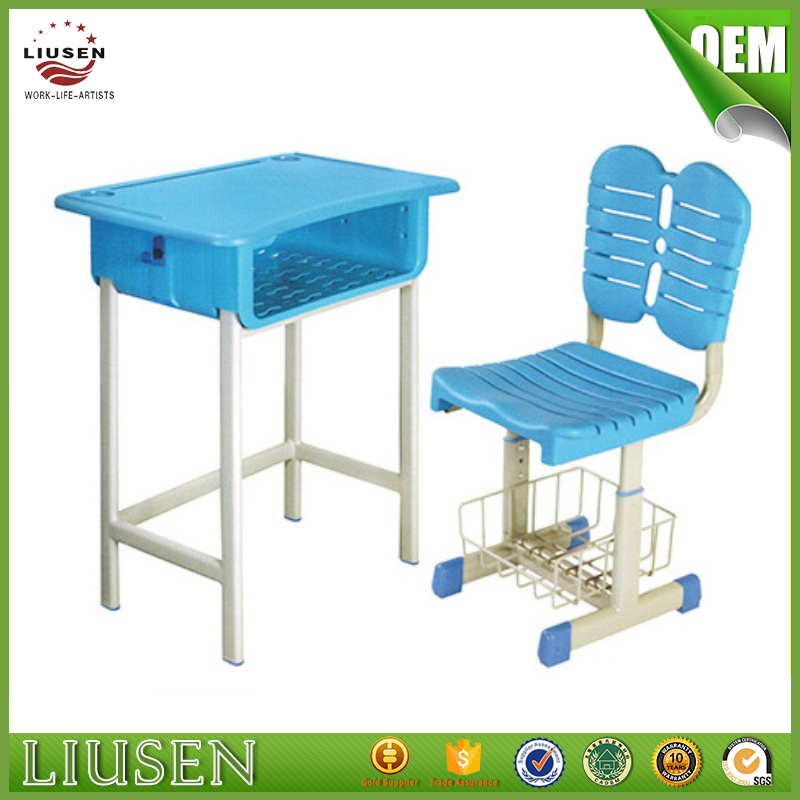 Top quality children school furniture cheap used plastic school desk chair