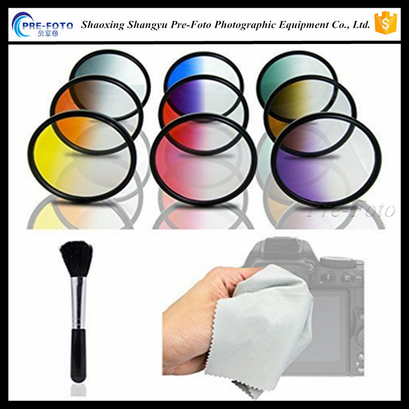 11in1 58mm Graduated Color Filter Kit for Olympus PEN E-PL7 P5 PL5 PM2