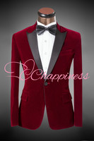 Fashion 5 Color men costume men tuxedo for wedding party cheap men suit set(jacket+pant) groom suit
