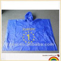 Can print logo outdoor PVC or EVA rain poncho