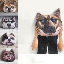 New Design Animal Shaped Throw Wholesale Cushion 3D Printing Dog Face Pillow