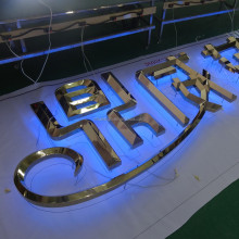 waterproof illuminated outdoor big 3d acrylic LED letter sign