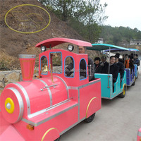 Electric Cartoon Train Amusement Park Trackless Train carnival ride for sale