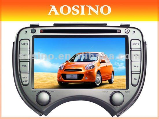 Double din specail car dvd player / car auto radio / car audio for NISSAN MARCH with GPS navigation