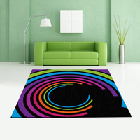 Top high quality rainbow colors hand tufted carpet