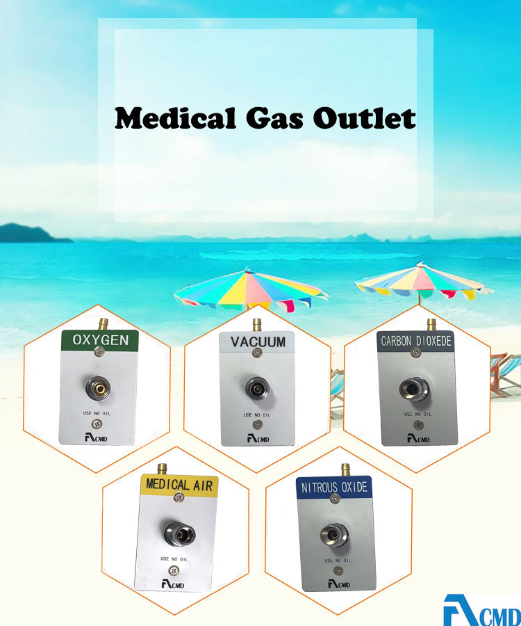 Console Installation Type Medical Gas adaptors For Oxygen Flow Meter