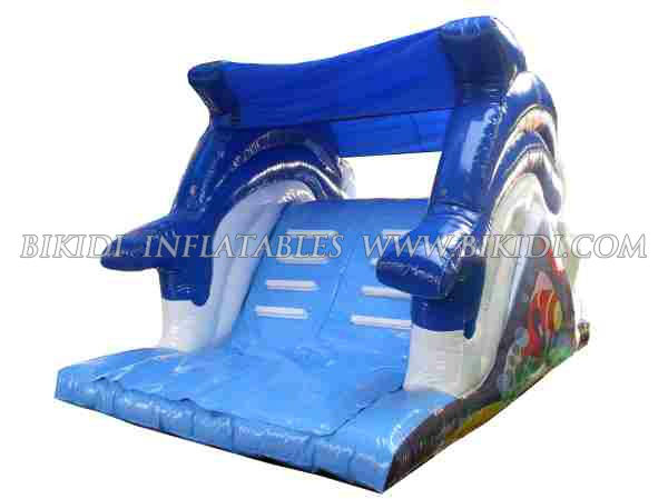 Dolphin water slide, top quality inflatable slide B4014
