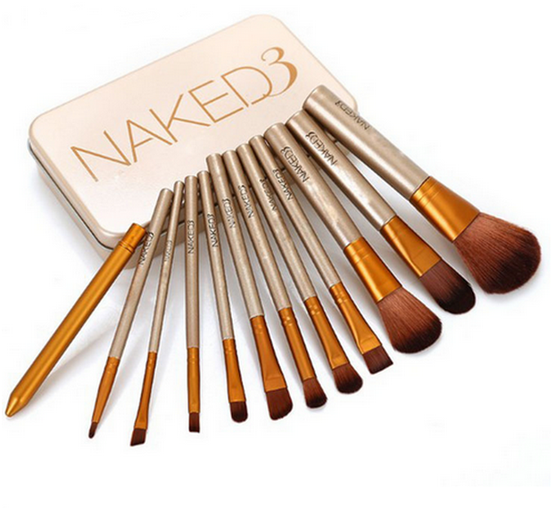 Hot selling Higher quality professional makeup <strong>brush</strong> 12 piece naked 3 makeup <strong>brush</strong> set