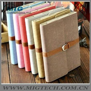 High end Leather Case for Ipad 2 3 with belt, for ipad accessories, for ipad3 case