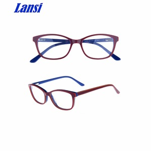 New model bright fashionable unisex acetate optical spectacles frame