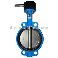dn150 worm gear operated wafer type gg25 butterfly valve for cement
