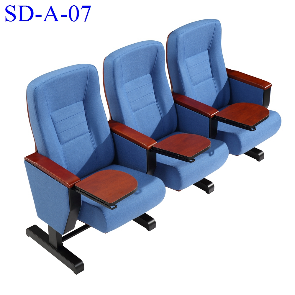 No.SD-A-07 Movable Wooden Used Theater Auditorium Seat, Best Price Theater Chair For Sale
