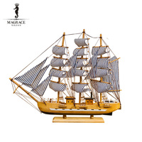 Wholesale New design ship model wooden body with fabric sail