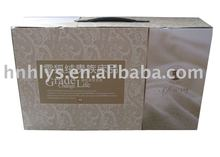 Printed Rectangular Home Textile Paper Box With Leather Handle
