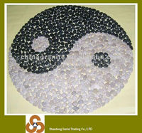 Hot sale natural river stone flat round pebbles tiles