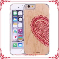 colorful printed wood case cell phone accessory wooden case for iphone 6s