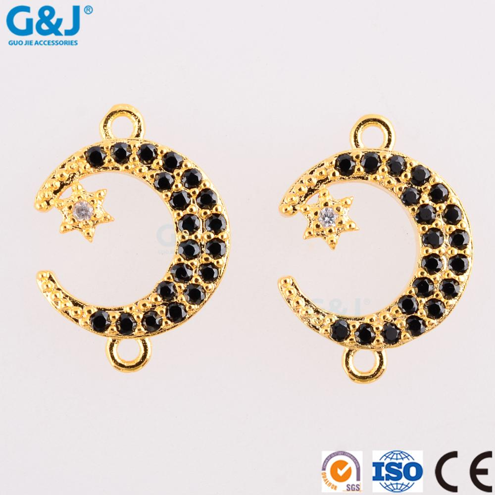 Guojie brand wholesale crystal pendant beautiful high quality micro gemstone moon and star gemstone pendant