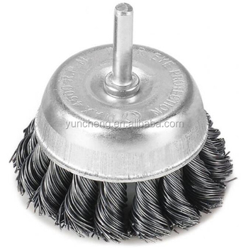 Shaft knot cup brush