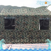 Big Outdoor Winter Inflatable Camouflage Party Tent With Windows