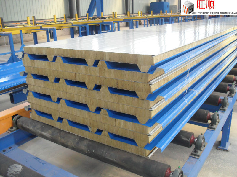 fireproof mineral wool sandwich panel rockwool sandwich panel price