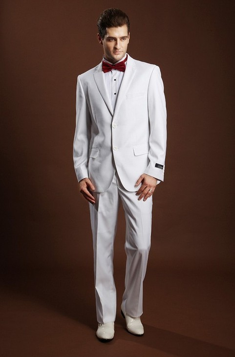 latest white pant coat design men wedding suits pictures