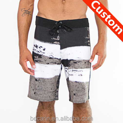 custom board shorts draw string back pocket swimming trunk men
