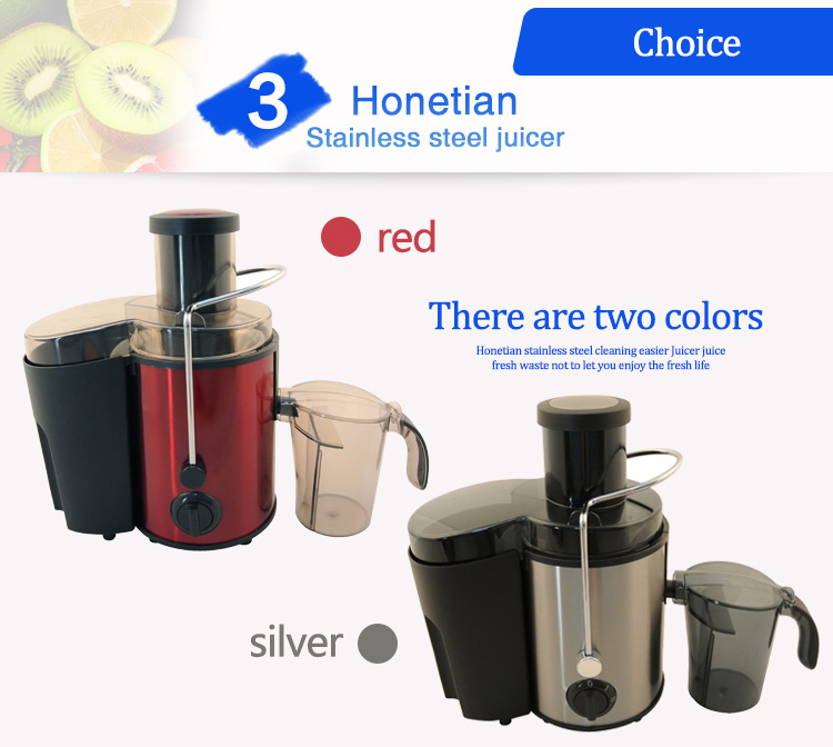 HTZ-1001 2018 New Latest Low Power Consumption High Efficiency Electric Juicer Kitchen Stainless Steel Extractor