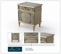 Gold Plated European Louis Style Bedroom Gold Gorgeous Night Stand With Drawers