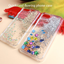 Best Seller 5.5 Inch Crystal Tpu Mobile Phone Case , Wholesale Quicksand Flowing Cell Phone Case For Iphone7