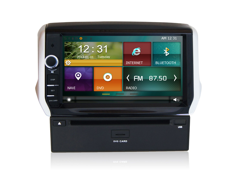 Double din receiver car stereo for Peugeot 301 New with GPS Navi, 3G, Wifi, Bluetooth, ipod, Free map support DVR, DVB- T