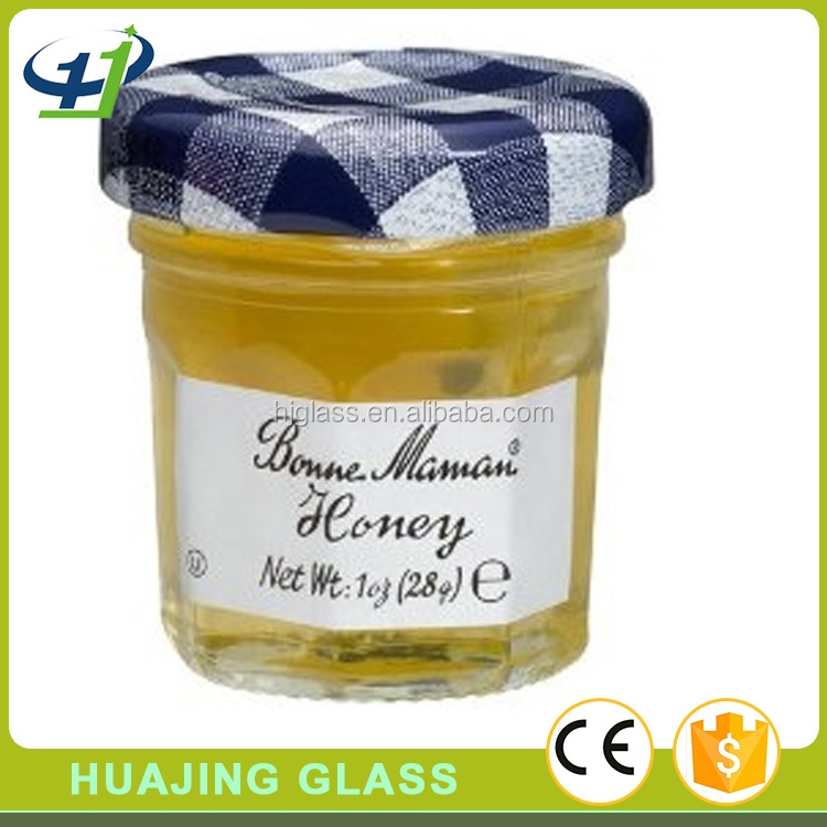 jam and bee honey use 120ml 60ml 30ml 20ml tapered glass mini jar with lid