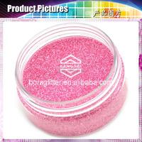 Environmental light green color mentallic glitter powder for Children toys and nail polish